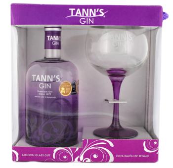 Tanns Gin Giftset + Glas 0,7L 40%
