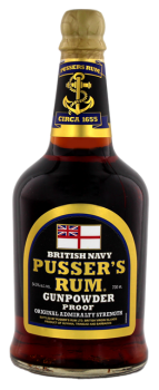 Pussers British Navy Black Label Gunpowder 0,7L 54,5