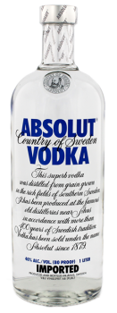 Absolut Vodka Blue 1L 40%