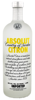 Absolut Vodka Citron 1L 40%