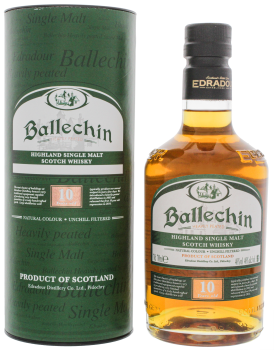 Ballechin 10YO Heavily Peated Non Chill Filtered 0,7L