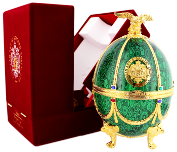 Imperial collections wodka Faberge Ei groen