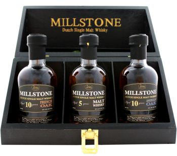 Zuidam Millstone Malt Whisky Trio Dutch whisky 0,6L