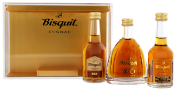 Bisquit Coffret cognac set 0,15L 40%