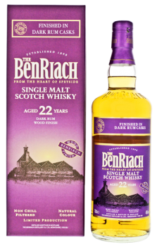 BenRiach 22YO Dark Rum Finish Non Chill Filtered 0,7L
