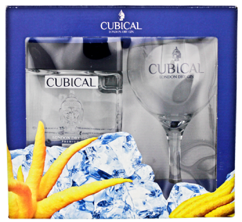 Cubical Premium London Dry Gin + glas 0,7L 40%