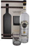 Beluga Noble Export wodka 1L 40% + glas
