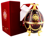 Imperial Collection Faberge Ei Bordeaux rood wodka
